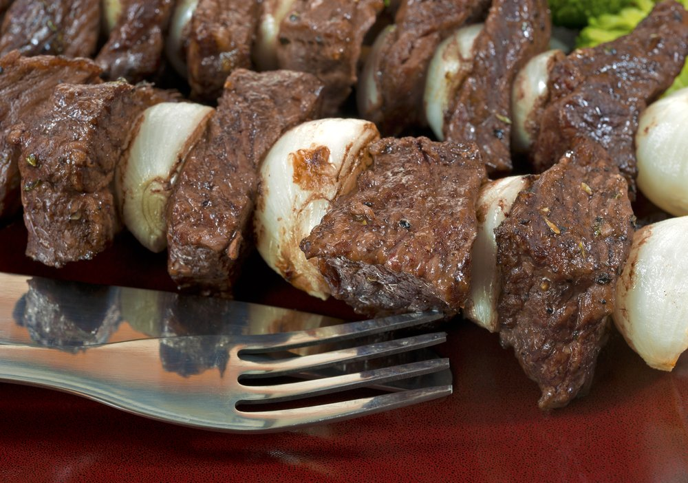 Beef and Onion Kabobs