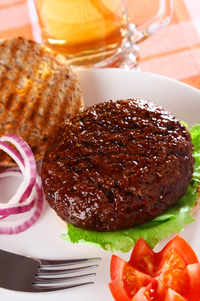 Grilled Onions and Barbecued Burger