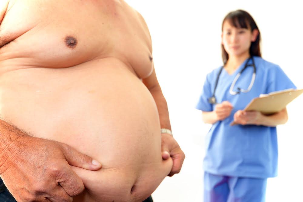 Overweight & Malnourished: Overweight man