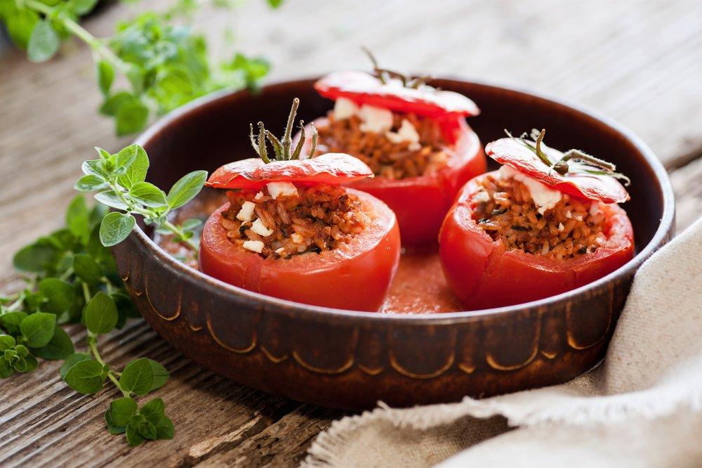 Beef Stuffed Tomatoes