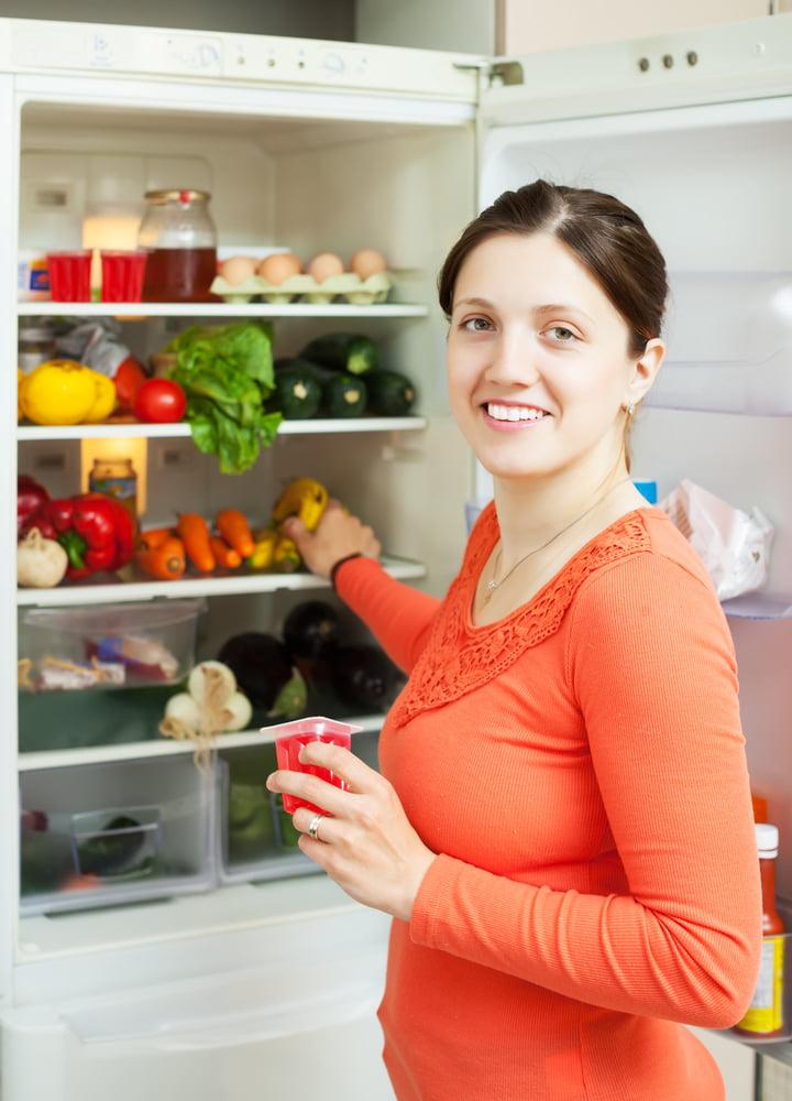 First Week On Maintenance, woman in fridge