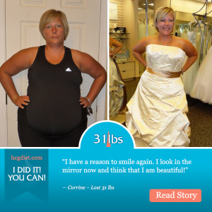 Corrine lost 31 pounds on the hcg diet